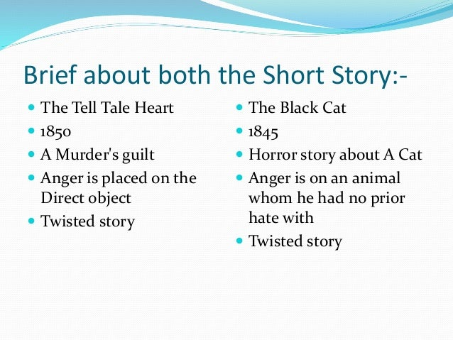black cat and tell tale heart essay