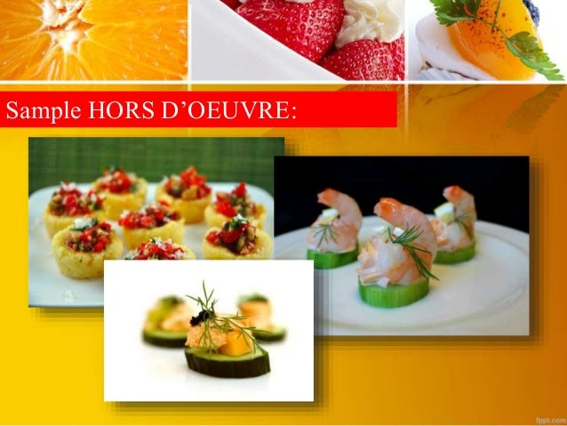 Comparison of different types of appetizers for Canape 4 kinds