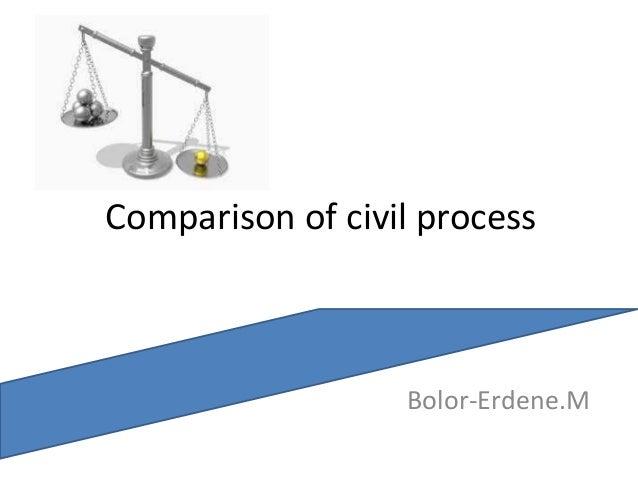 Comparison of civil process Bolor-Erdene.M