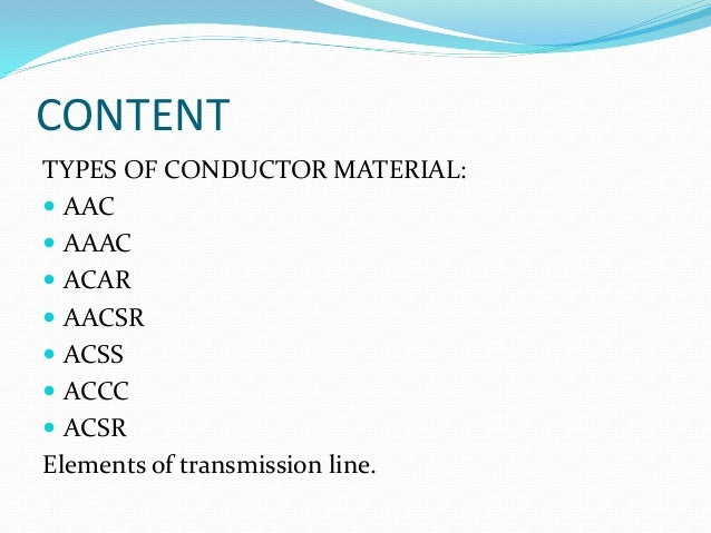 Types Of Conductors : Comparison of conductor material
