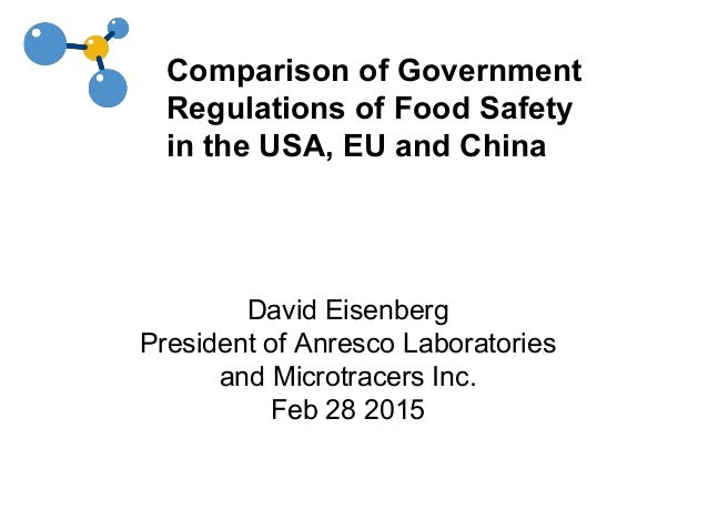 comparison of government regulations of food safety