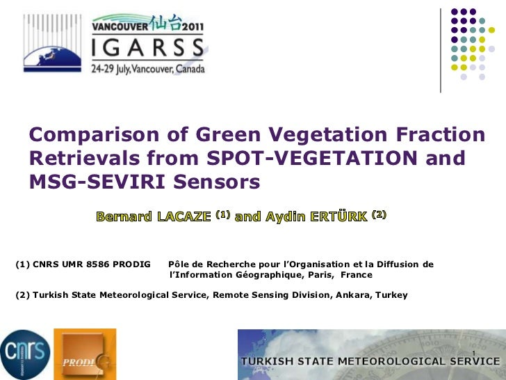 COMPARISONOFGREENVEGETATIONFRACTIONRETRIEVALSFROMSPOT