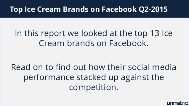 Comparison of Haagen-Dazs, Ben & Jerrys, Baskin Robbins, Cold Stone Creamery and Other Top Ice Cream Brands on Facebook Slide 2