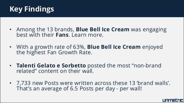 Comparison of Haagen-Dazs, Ben & Jerrys, Baskin Robbins, Cold Stone Creamery and Other Top Ice Cream Brands on Facebook Slide 3