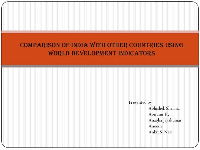 country comparison of economic development data Instead of comparing cross-country economic performance and relating  this  becomes harder when working with cross-sectional data from a.