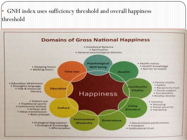 """bhutans concept of gross national happiness The fourth druk gyalpo, jigme sinye wangchuk at the age of 18, coined the term """"gross national happiness"""" (gnh) in 1972 he put through a proposition that gross national product (gnp) was an insufficient measurement of the success of a country."""