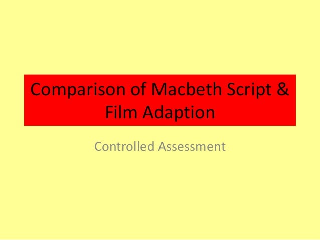 compare contrast essay on macbeth Home → sparknotes → shakespeare study guides → macbeth → study questions macbeth suggested essay one of the important themes in macbeth is the idea.