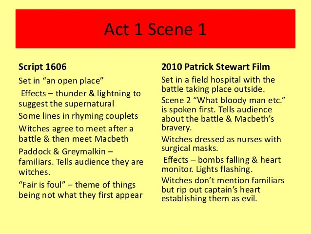 comparison of macbeth script film adaption comparison of macbeth script film adaption controlled assessment 2