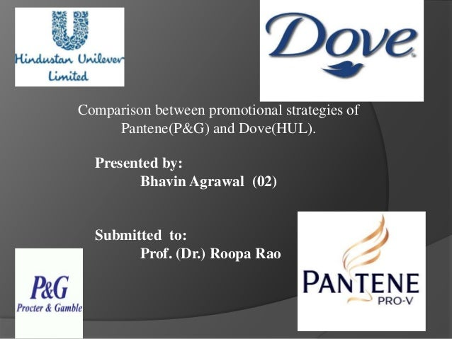 Comparison between promotional strategies of Pantene(P&G) and Dove(HUL). Presented by: Bhavin Agrawal (02) Submitted to: P...