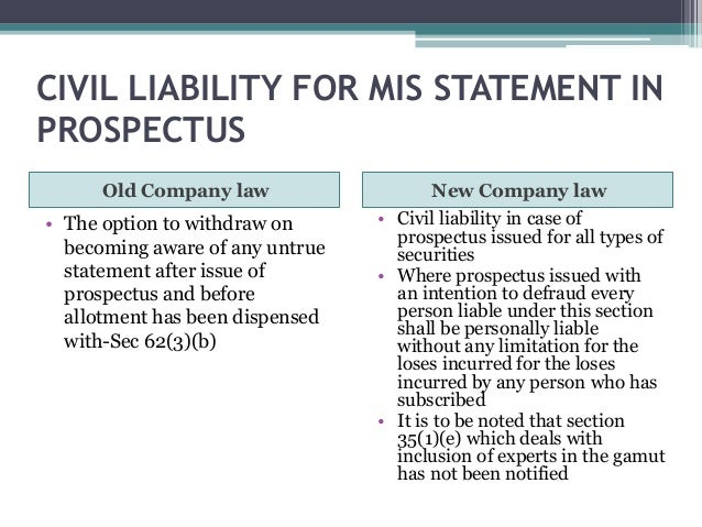Comparison of the old & new company law
