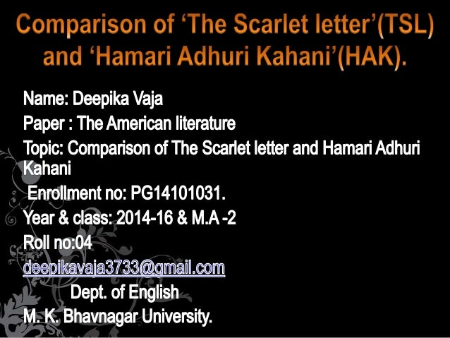 scarlet letter comparison In comparison with the puritanic doctor of the wild palms, this doctor is comical,  and one who causes a  comparisons with hawthorne's the scarlet letter.