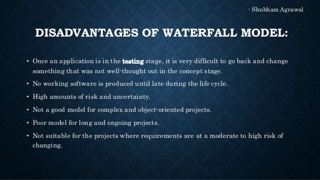 Comparison of waterfall model and prototype model for Waterfall methodology advantages and disadvantages