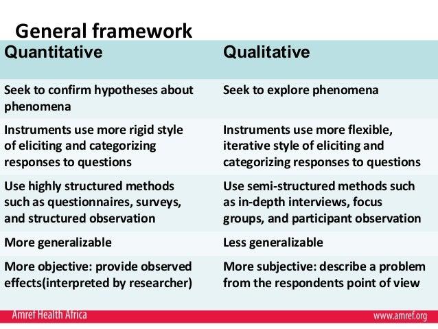 compare qualitative and quantitative research