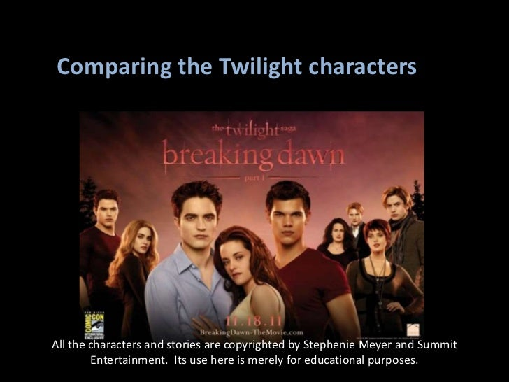 Comparing the Twilight characters<br />All the characters and stories are copyrighted by Stephenie Meyer and Summit Entert...