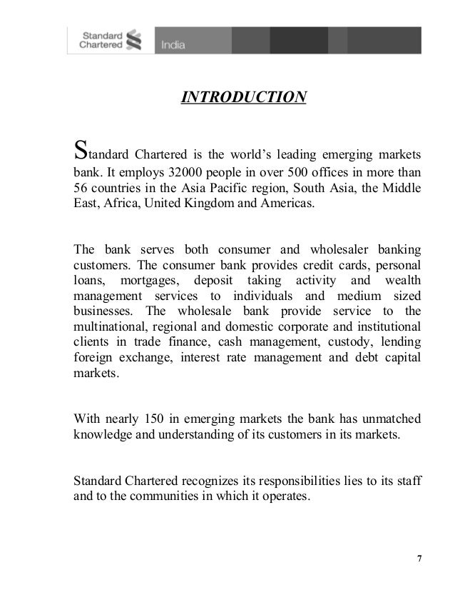 swot analysis on standard chartered bank finance essay I have mentioned introduction and history of standard chartered bank it is related banking industry its product is financial services its.