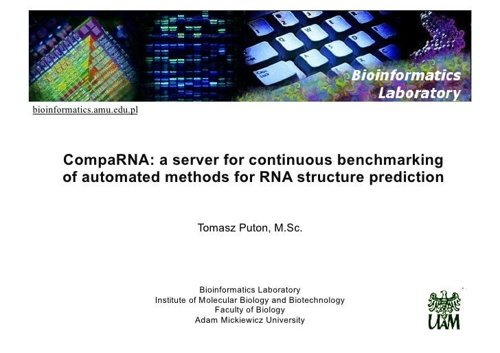 bioinformatics.amu.edu.pl            CompaRNA: a server for continuous benchmarking        of automated methods for RNA st...