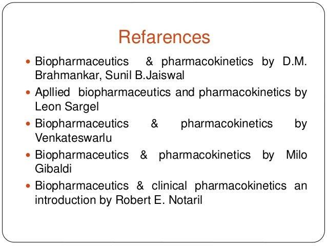 Modeling In biopharmaceutics Pharmacokinetics And