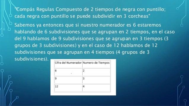 ♪-En muchos de los casos que se ve un compás  regular compuesto se suele contar/marcar el compás  por numero de subdivisio...
