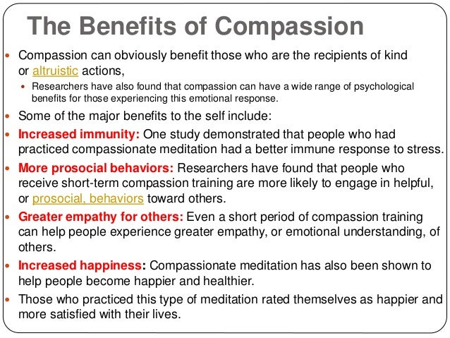 Can a person have both compassion