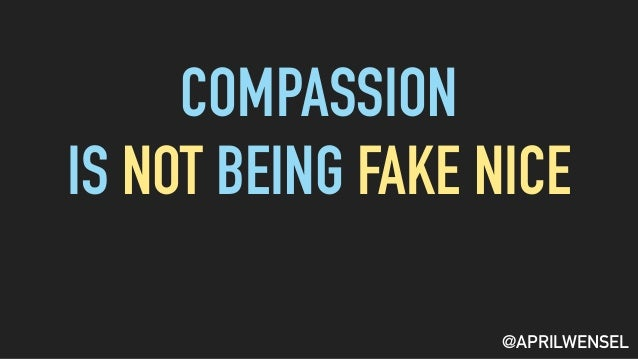 paragraph on being compassionate