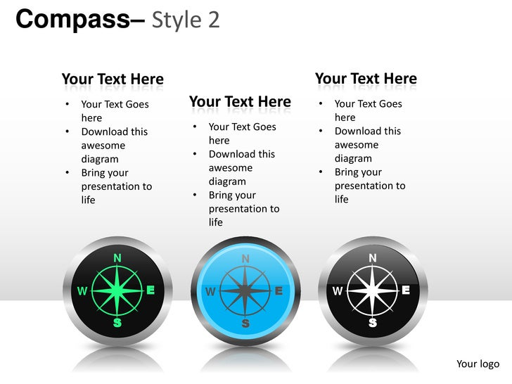 compass style 2 powerpoint presentation templates, Presentation templates