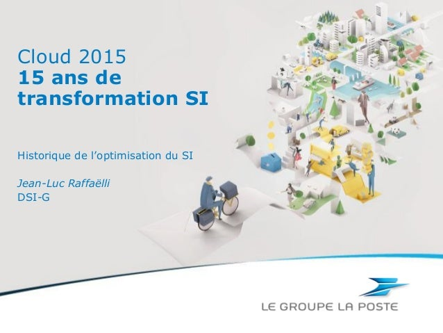 Cloud 201515 ans detransformation SIHistorique de l'optimisation du SIJean-Luc RaffaëlliDSI-G