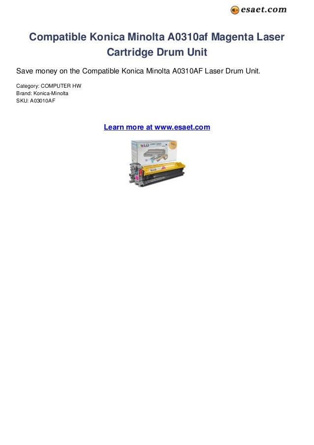 Compatible Konica Minolta A0310af Magenta Laser                 Cartridge Drum UnitSave money on the Compatible Konica Min...