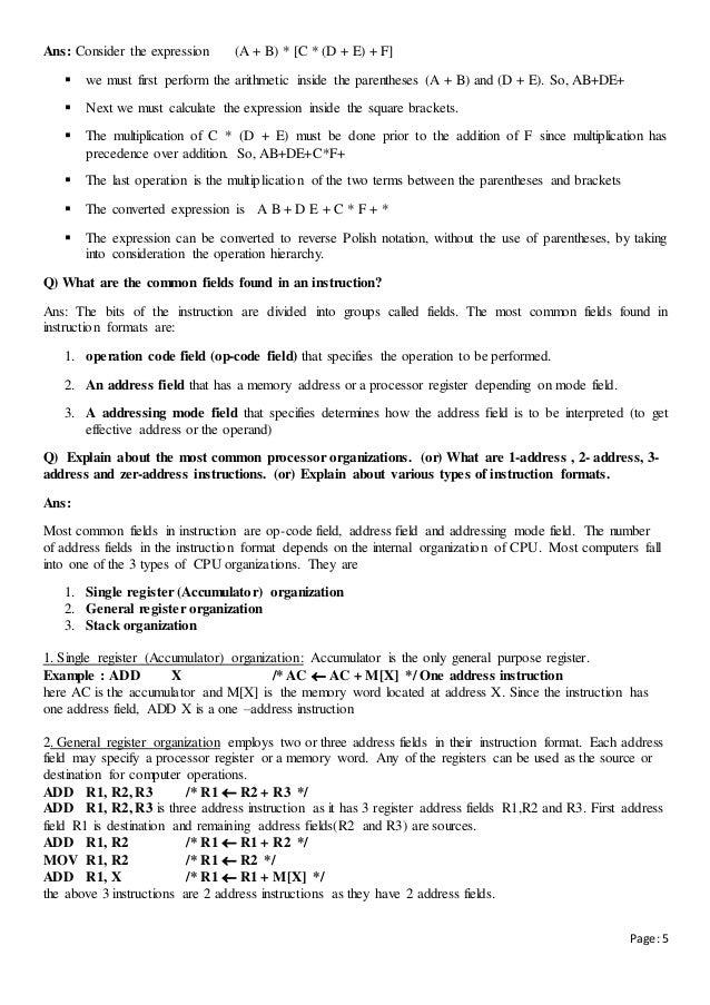 register in computer organization pdf