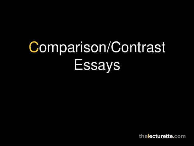 comparison and contast essay Stuck writing a compare and contrast essay we have many compare and contrast example essays that answers many essay questions in compare and contrast.