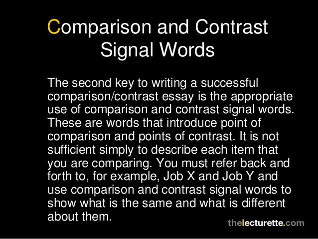 comparison and contrast of a separate It is not a problem any longer – grab 56 top compare and contrast essay topics   experts recommend developing separate columns to include the results there.