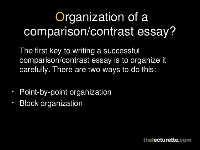 Short story comparison contrast essay
