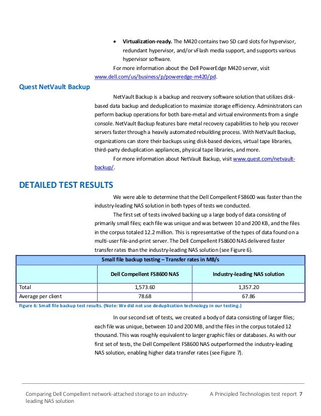 Comparing Dell Compellent network-attached storage to an
