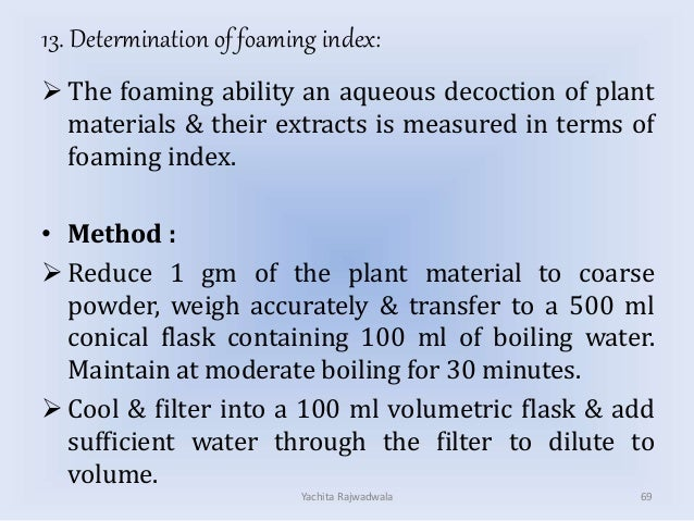 Compendial methods for evalution of crude drug and herbal