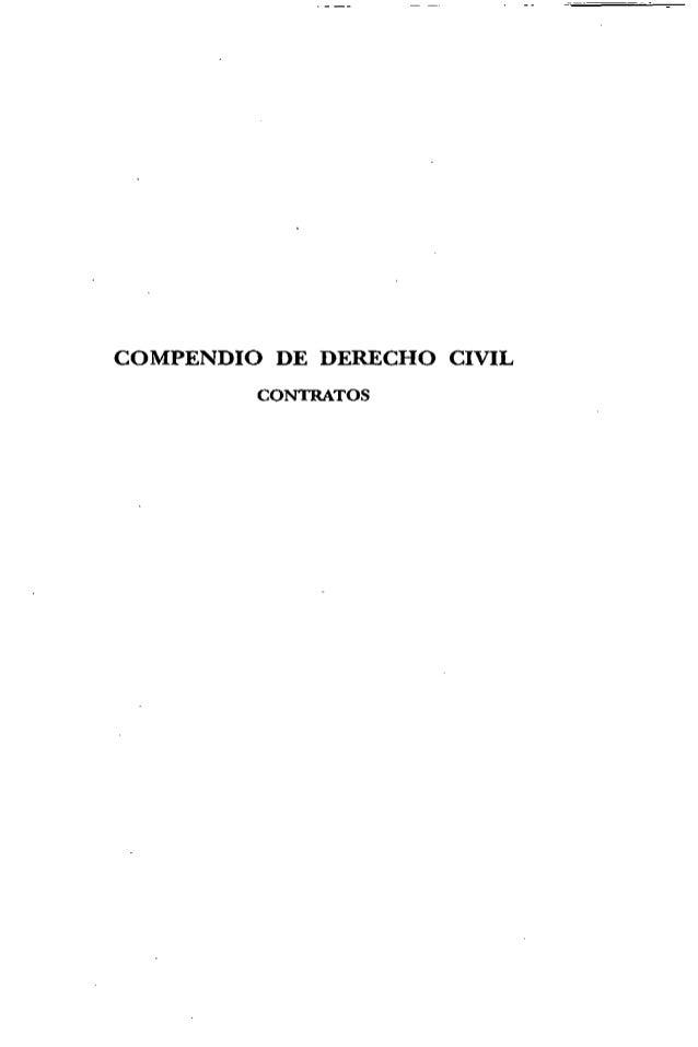 COMPENDIO DE DERECHO CIVIL CONTRATOS