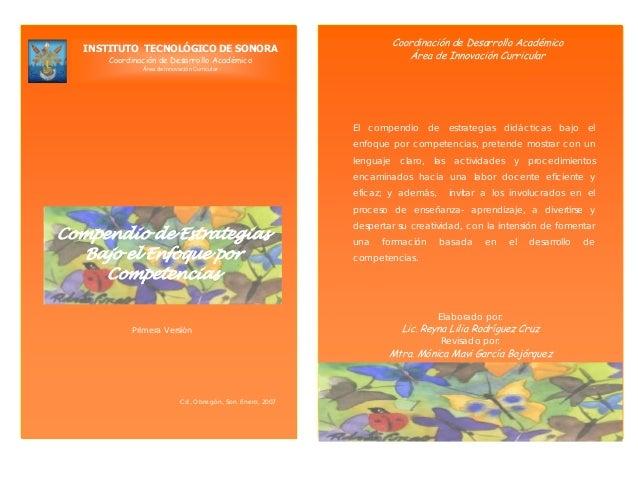 Coordinación de Desarrollo Académico Área de Innovación Curricular INSTITUTO TECNOLÓGICO DE SONORA Coordinación de Desarro...