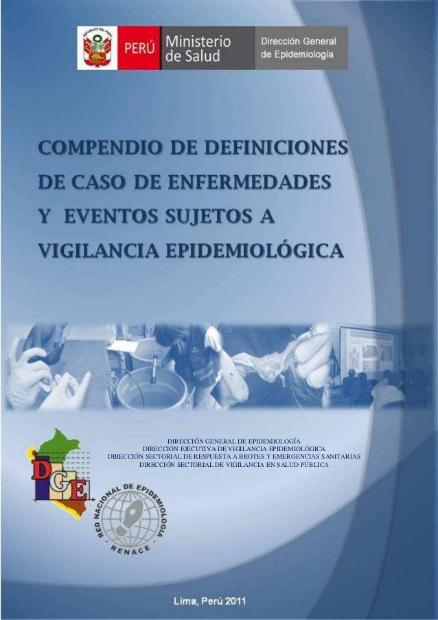 DIRECCIÓN GENERAL DE EPIDEMIOLOGÍA         DIRECCIÓN EJECUTIVA DE VIGILANCIA EPIDEMIOLÓGICADIRECCIÓN SECTORIAL DE RESPUEST...
