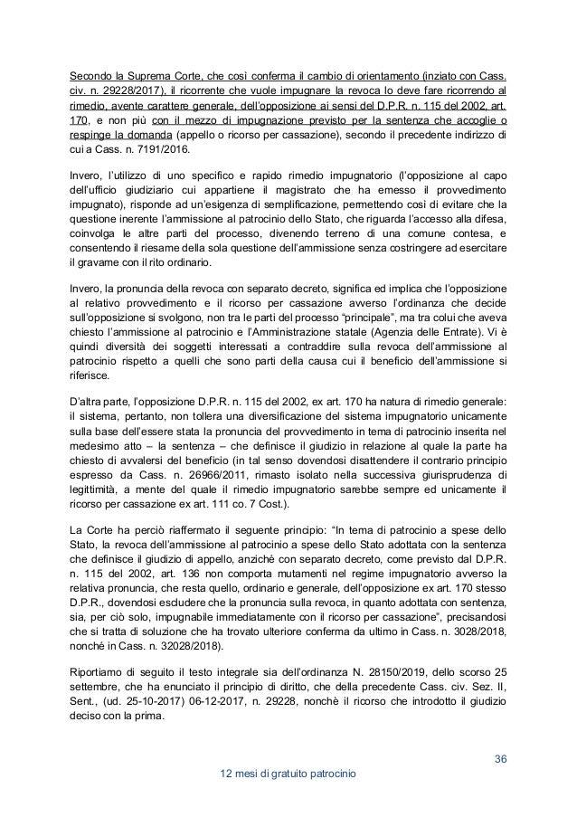22. ADOZIONE MINORI, GRATUITO PATROCINIO E COMPENSI DEL DIFENSORE D'UFFICIO DEL GENITORE IRREPERIBILE Da ora devono essere...