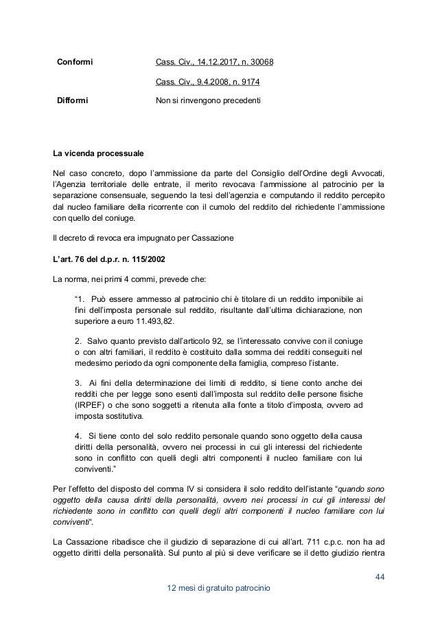 Compendio 2020: gratuito patrocinio un anno di giurisprudenza