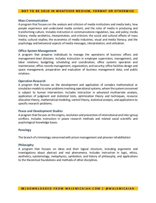 Compendium of courses in nigeria universities