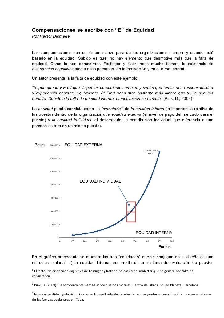 """Compensaciones se escribe con """"E"""" de EquidadPor Héctor DiomedeLas compensaciones son un sistema clave para de las organiza..."""