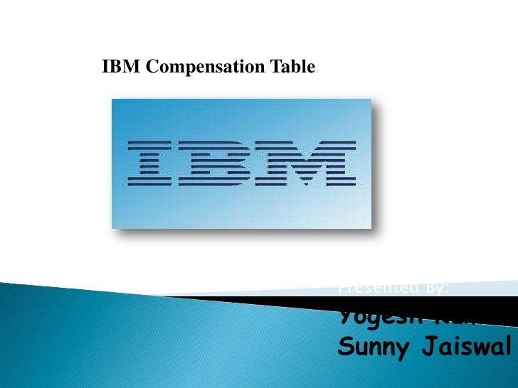 IBM Compensation Table                         Presented By:                         Yogesh Kumar                         ...