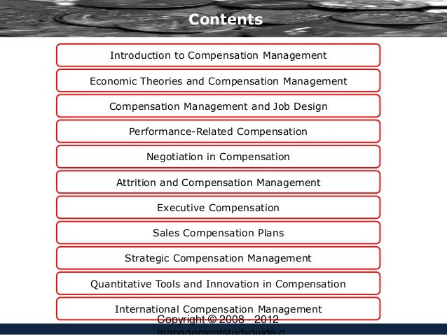 performance management and executive compensation essay This performance management guidance relates to the management of employee performance (ie, planning, developing, monitoring, rating, and rewarding employee contributions), rather than performance-based or performance-oriented approaches to managing, measuring, and accounting for agency.