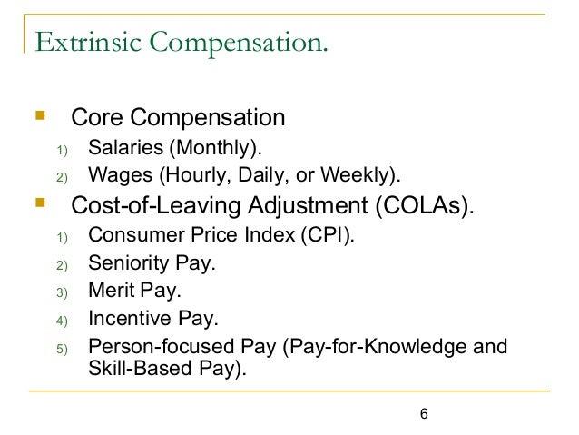 Intrinsic compensation and discretionary benefits essay