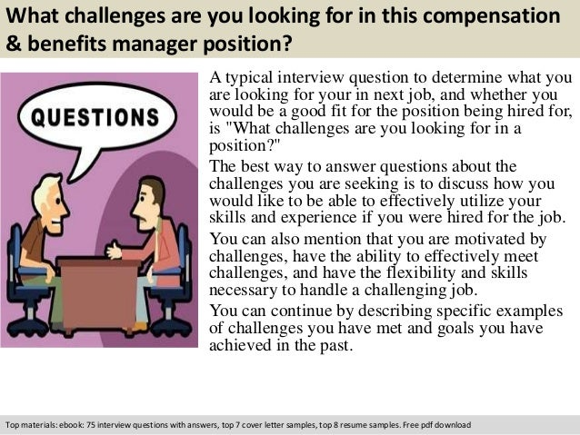 free pdf download 2 what challenges are you looking for in this compensation benefits manager