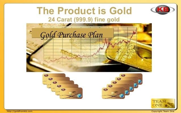 KB Gold Compensation Bonus Plan Slide 2