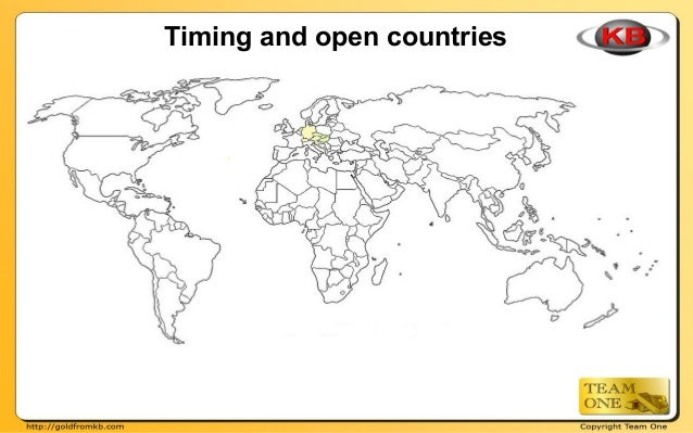 Timing and open countries