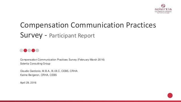 Compensation Communication Survey Participant Report
