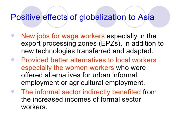 positive effects of globalization in zambia 4 positive impacts of globalization on world economy news 4 positive impacts of globalization on world economy by andy rao - may 7, 2013 33 385464 share on facebook  here are four ways that globalization has had a positive impact on the world economy: 1 more efficient markets.