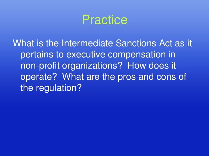 Cons of intermediate sanctions
