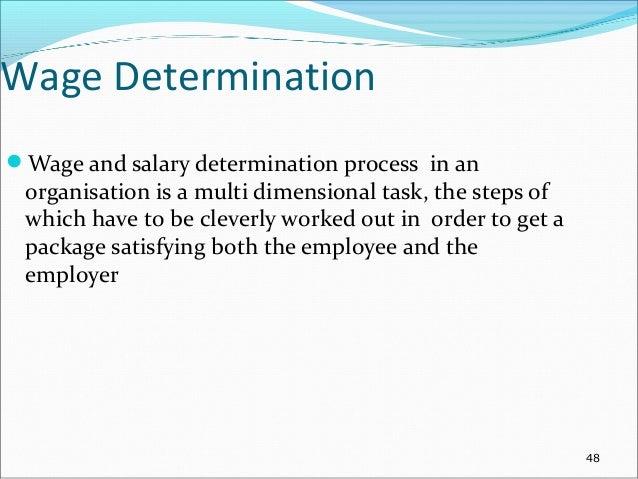 wage determination process